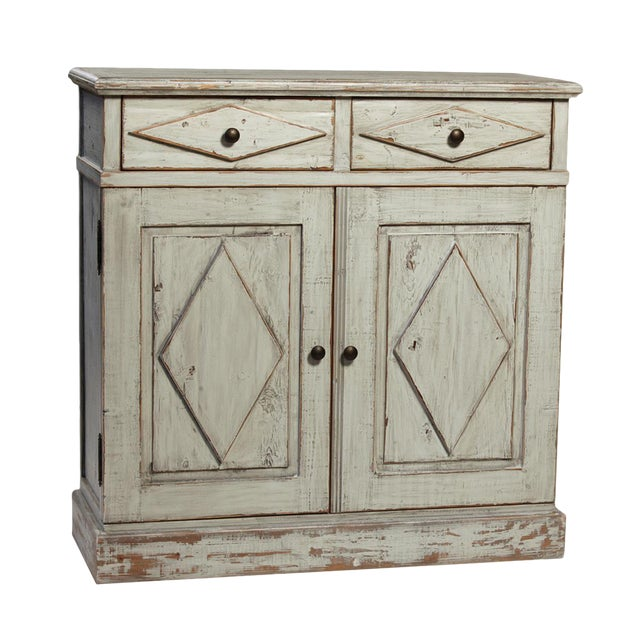Antiqued Grey Farmhouse Cabinet - Image 1 of 2