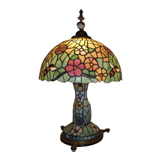 XL Antique Chicago Mosaic Stained Glass Lamp