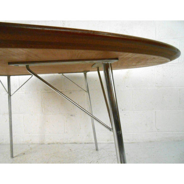 Mid-century Modern Teak Dining Table by Arne Jacobsen for Fritz Hansen - Image 6 of 7