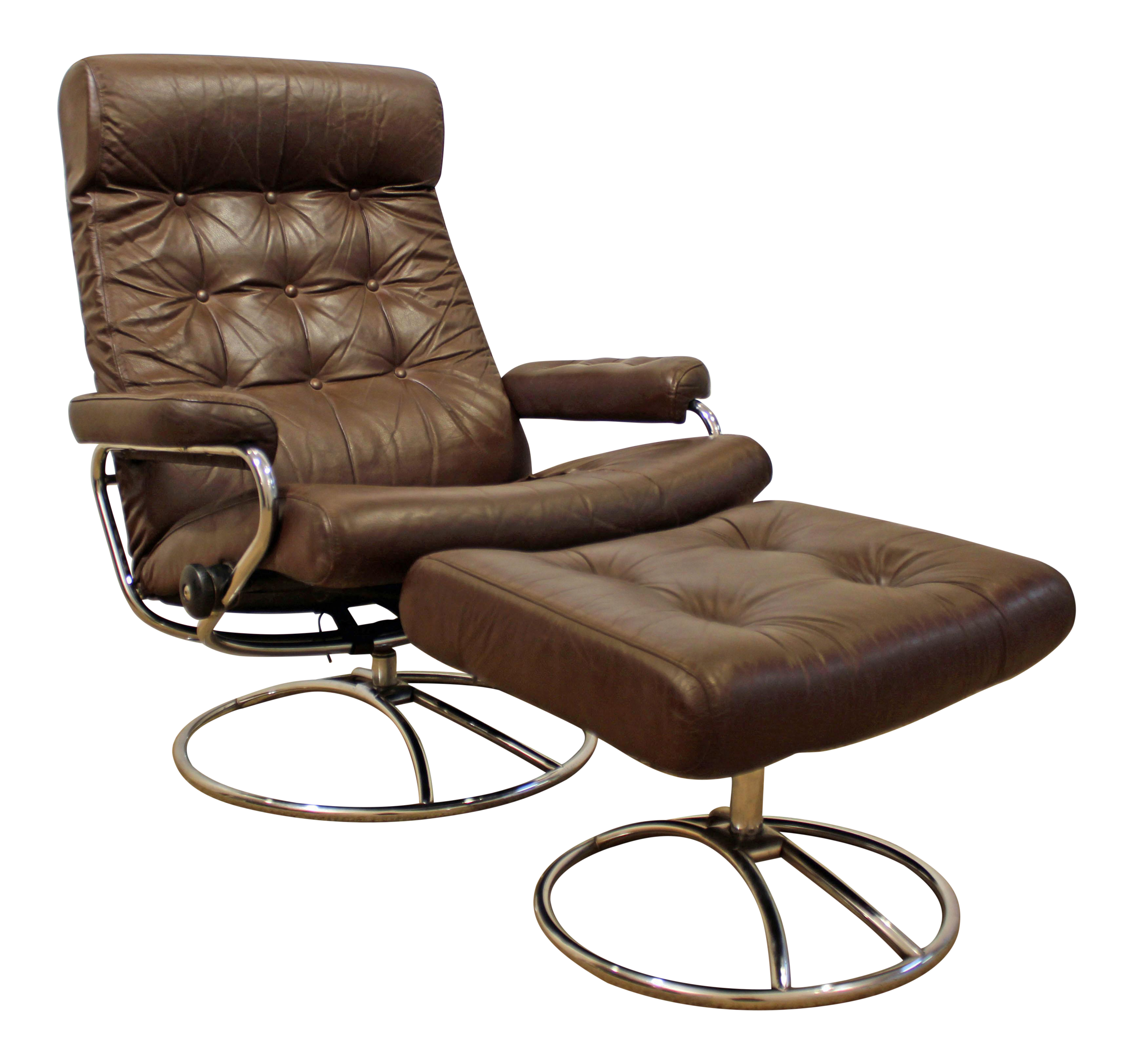 Mid-Century Danish Modern Ekornes Stressless Chrome Lounge Chair/Ottoman  sc 1 st  Chairish & Gently Used Ekornes ASA Furniture | Up to 40% off at Chairish islam-shia.org