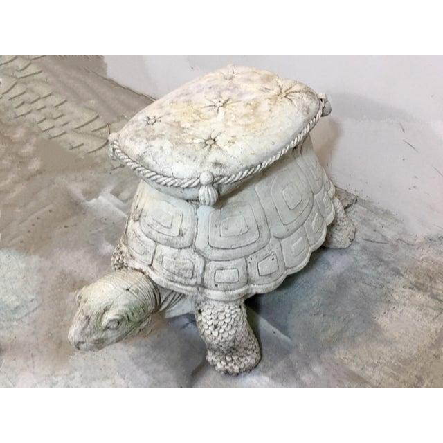 1960s Concrete Turtle Garden Seat - Image 3 of 6
