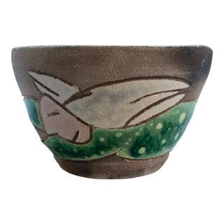 Figurative Studio Pottery Bowl