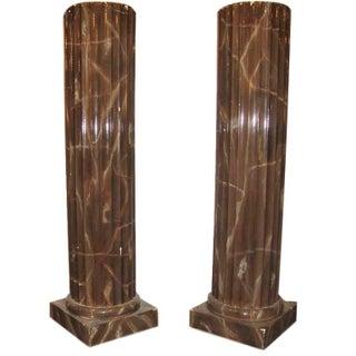 Column Style Pedestals - Pair