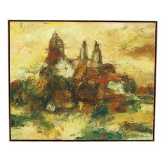 Hugo Paul Ten Houpen Painting - Yellow Towers