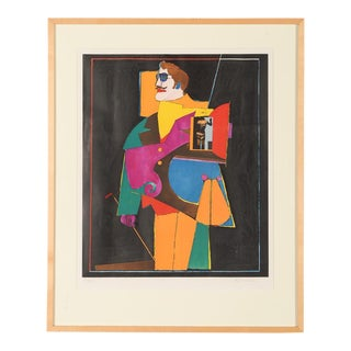 Original Vintage 1969 Lithograph by Richard Lindner