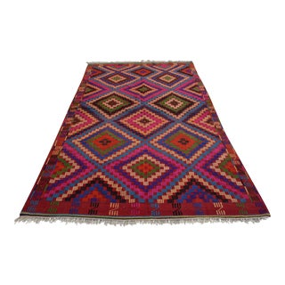 Handwoven Turkish Anatolia Kilim Rug - 5′10″ X 9′9″