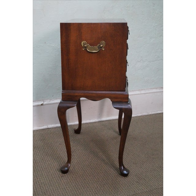 Hickory Chair Mahogany Queen Anne Silver Chest - Image 6 of 10