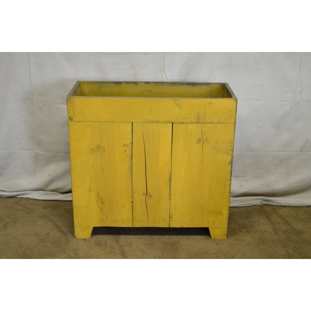 Primitive Distressed Painted Country Small Dry Sink Cabinet - Image 9 of 11