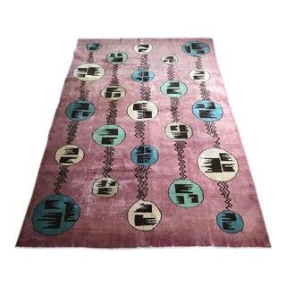 """Vintage Zeki Muren Turkish Rug """"Rosy"""" - 6'9"""" x 10'"""