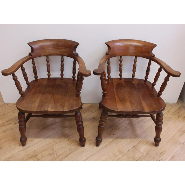L & JG Stickley Colonial Cherry Valley Captain's Chairs - A Pair - Image 7 of 7