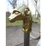 Image of Brass Ram's Head Decorated Coat Rack