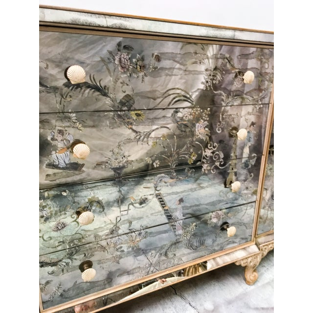 1950s Mirrored Chinoiserie Credenza - Image 5 of 10