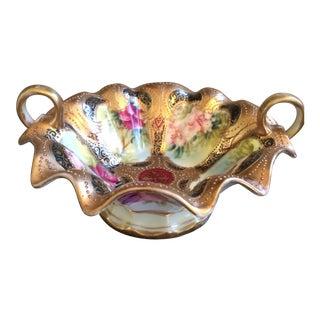 Vintage Nippon Porcelain Footed Bowl