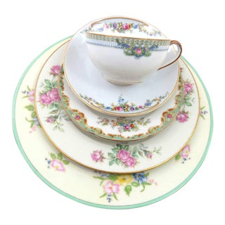 Vintage Mismatched Fine China Place Setting
