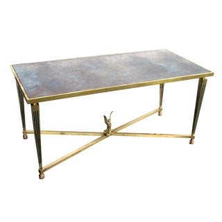 Stylish and Good Quality French Mid-Century Neoclassical, Brass Coffee Table