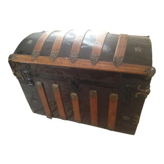 Antique 1800s Steamer Trunk