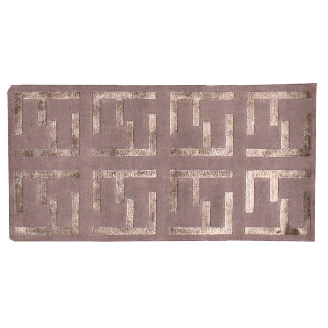 Indian Modern Silk Highlighted Rug- 3' x 5' - Image 8 of 9