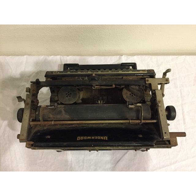 Antique 1908 Black Underwood Typewriter - Image 6 of 11