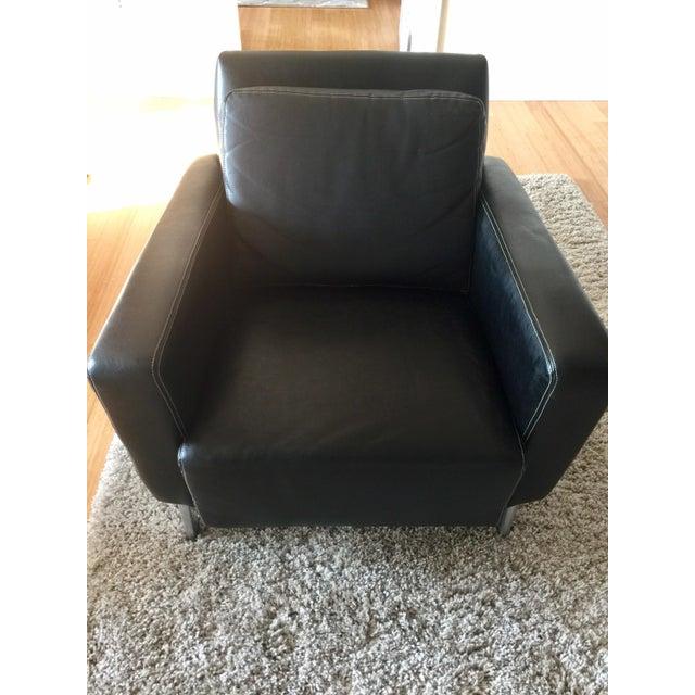 Jensen-Lewis Black Genuine Leather Chair - Image 7 of 10