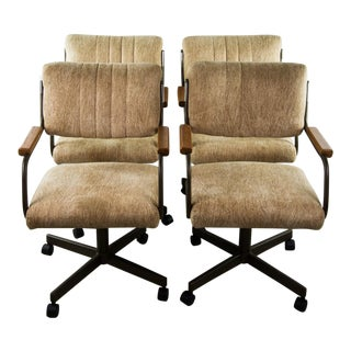 Chromecraft Swivel Office or Dining Chairs - Set of 4