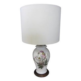 Vintage Butterflies & Roses Porcelain Lamp