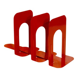 Vintage Bookends, Safety Orange, 1990 - Set of 3