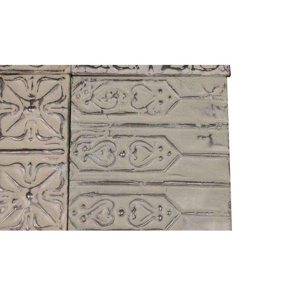 White Antique Tin Panels - Set of 4 - Image 3 of 4