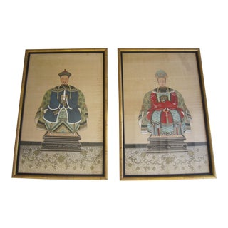 Chinese Ancestral Portraits - Pair