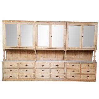 19th-C. Chocolatier Cabinet