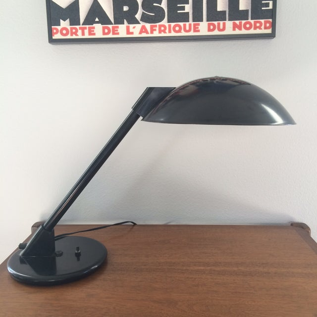Image of Vintage Black Metal Atomic Desk Lamp