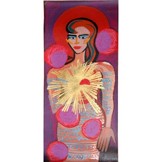 'Woman with Star' Serigraph