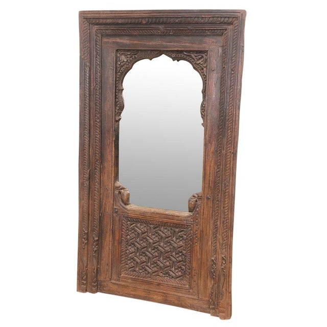 Image of Antique Indian Mudejar Arch Mirror