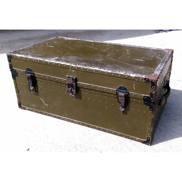 Image of Vintage Multi-Level Military Foot Locker