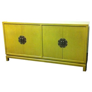 Chartreuse Asian Style Lacquered Credenza