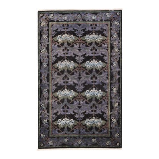 """Arts & Crafts Hand Knotted Area Rug - 4'10"""" X 7'10"""""""