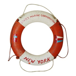 States Marine Corporation Life Preserver Ring, New York