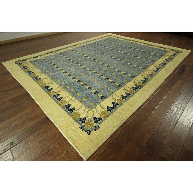 Super Gabbeh Blue Wool Rug - 9' x 12' - Image 2 of 10