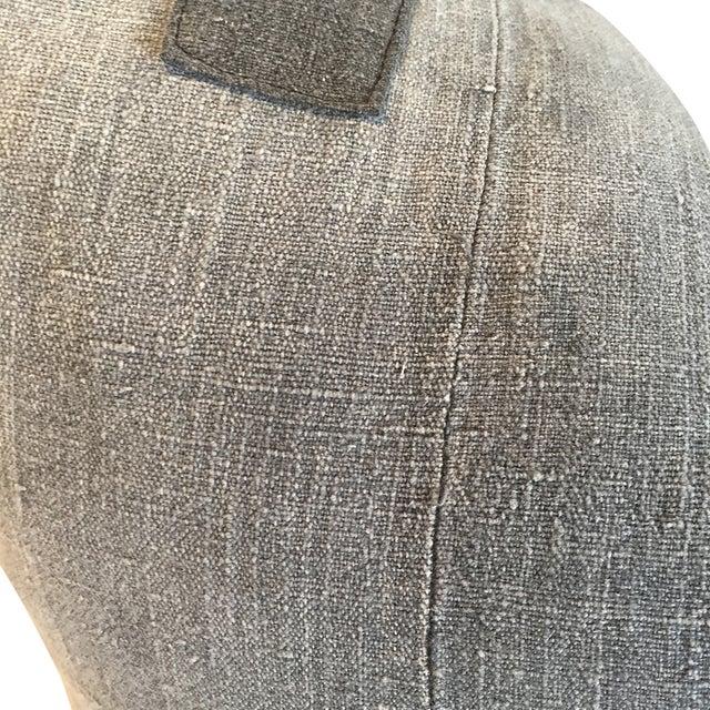 Vintage Batik Grey Pillow - Image 2 of 3