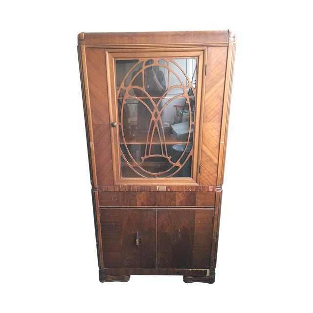 Vintage Waterfall Cabinet or Bar - Image 1 of 9