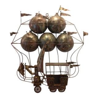 Mid-Century C. Jere Style Copper Air Balloon Art