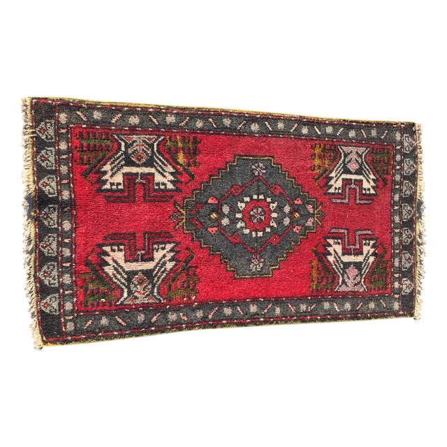 "Vintage Red Anatolian Persian Rug - 1'9"" x 3'3"" - Image 1 of 8"