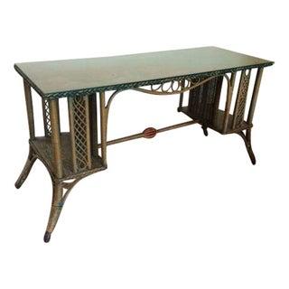 Green Wicker Desk