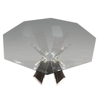 Mid-Century Crystal Lucite Sculptural Dining Table