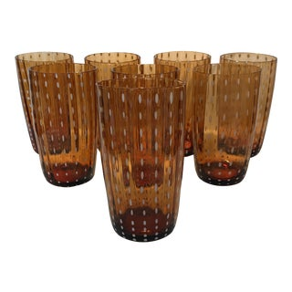 Vintage Hand Blown Glasses - Set of 8