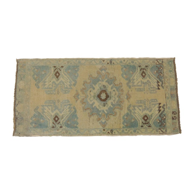 Vintage Hand-Knotted Oushak Rug 1'8'' X 3'4'' - Image 1 of 3