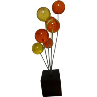 Mid Century Lucite Lollipop Sculpture