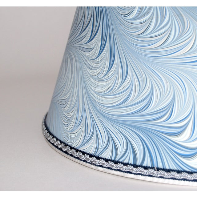 Italian Blue & White Marble Lampshades - A Pair - Image 4 of 4