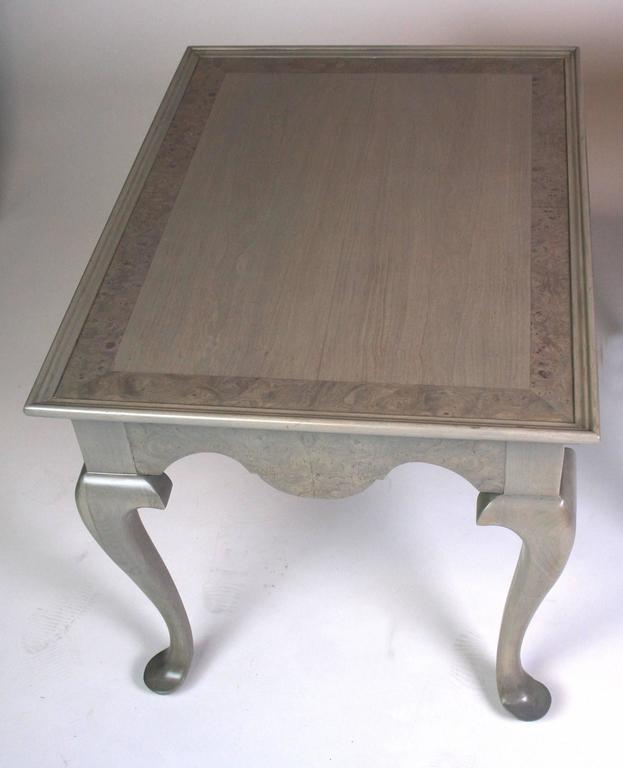 Grey Stained Queen Anne Style Side Tables   A Pair   Image 5 Of 7