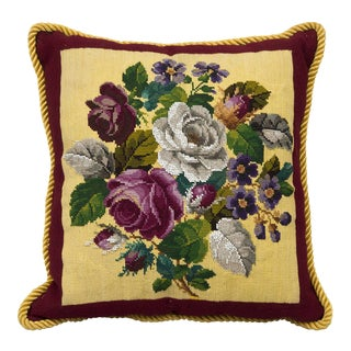 Victorian Beadwork Cushion, Circa 1880