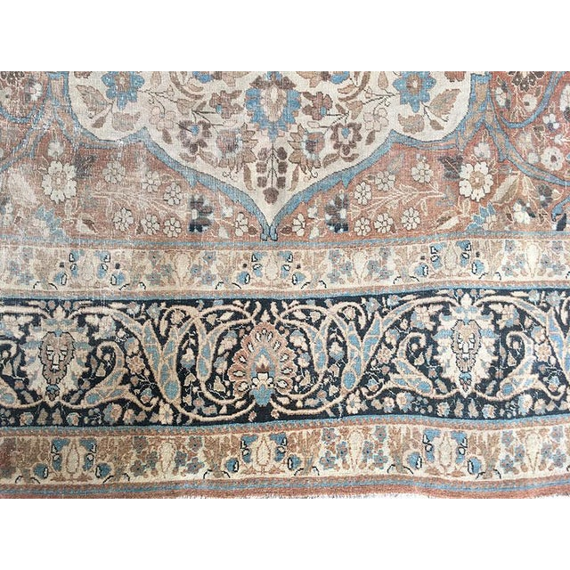 "Antique Worn Out Persian Tabriz Rug ""Haji Jalili Style"